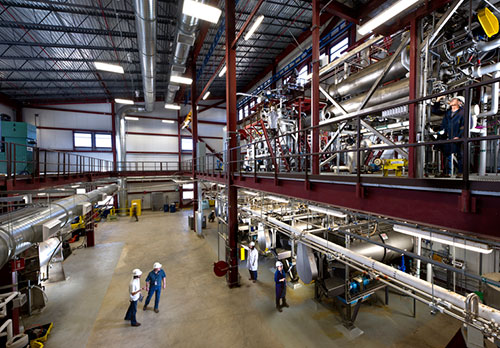 Photo of the inside of the Integrated Biorefinery Research Facility (IBRF) at NREL.