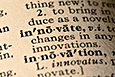 Photo of the dictionary entry for innovate.